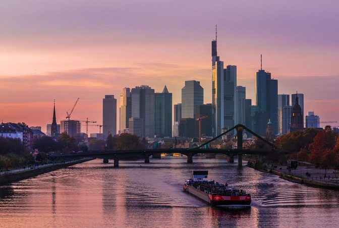Frankfurt MainTowerAndSkyline #copyright Kiefer.scale-140