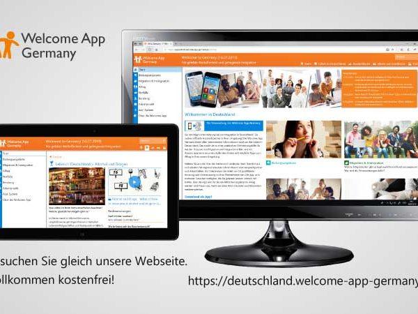 Welcome App als Website-Version für Deutschland geht online