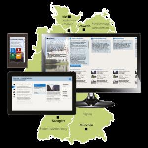 Welcome-app-germany_screenshots_three_devices_vor_karte